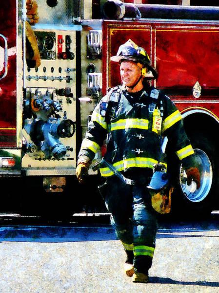 Photograph - Fireman by Susan Savad
