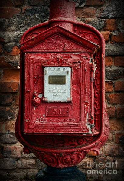 Wall Art - Photograph - Fireman - The Fire Alarm Box by Paul Ward