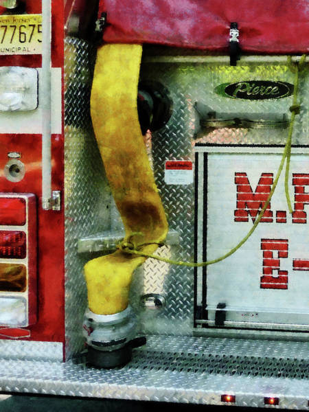Photograph - Fireman - Yellow Fire Hose by Susan Savad