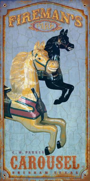 Carousel Digital Art - Firemans Carousel by Jim Sanders