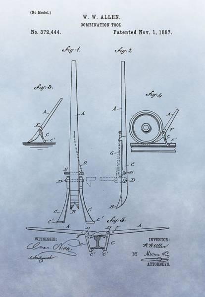 Digital Art - Fireman's Tool Patent by Dan Sproul