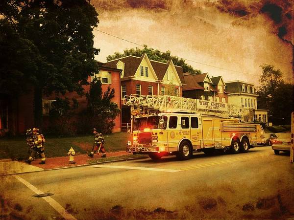 Photograph - Firemen To The Rescue by Richard Reeve