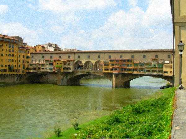 Painting - Firenze Bridge Itl2153 by Dean Wittle
