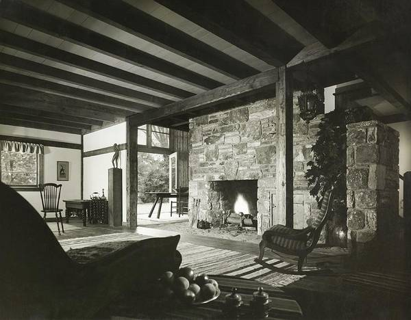 Countryside Photograph - Fireplace In Living Room by Robert M. Damora