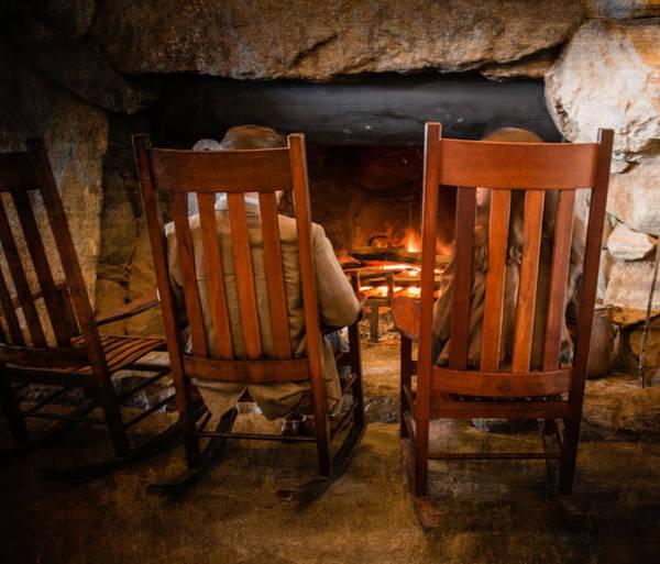 Grove Park Inn Photograph - Fireside Chat by Carl Clay