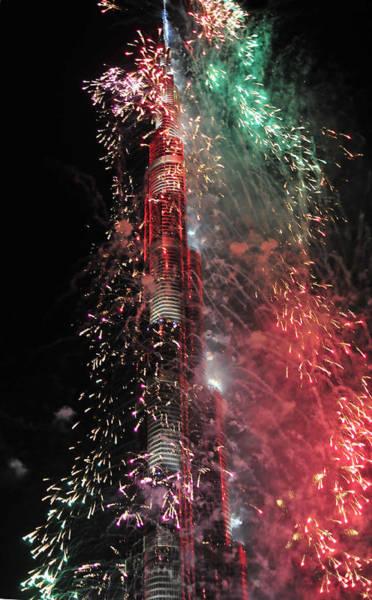 Photograph - Burj Khalifa Fireworks 11 by Dragan Kudjerski