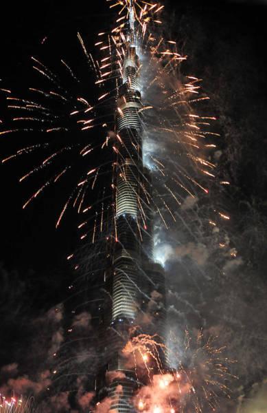 Photograph - Burj Khalifa Fireworks 13 by Dragan Kudjerski