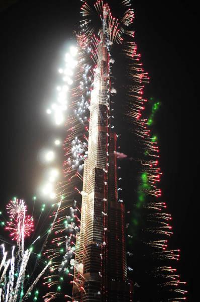 Photograph - Burj Khalifa Fireworks 2 by Dragan Kudjerski