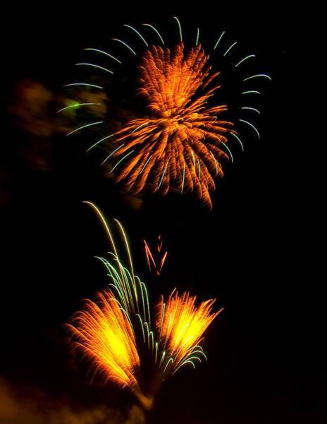 Digital Art - Fireworks 3 by Chris Flees