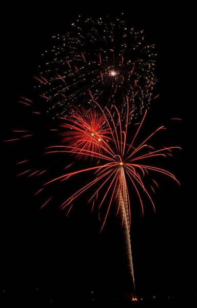 Photograph - Fireworks 3 by Wesley Elsberry