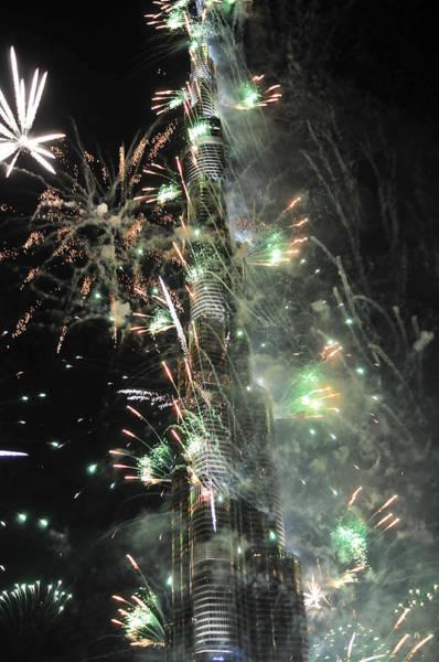 Photograph - Burj Khalifa Fireworks 9 by Dragan Kudjerski