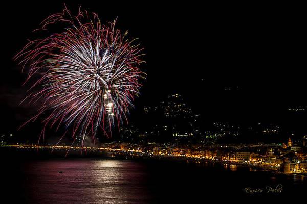 Photograph - Fireworks Alassio 2013 3601 - Ph Enrico Pelos by Enrico Pelos