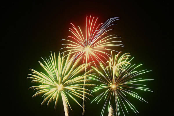Photograph - Fireworks by Broderick Delaney