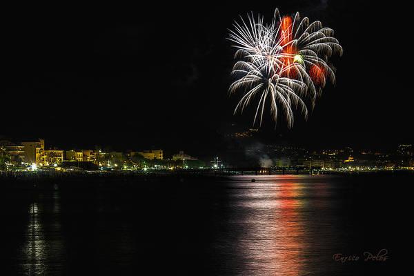 Photograph - Fireworks Ceriale 2013 3655 by Enrico Pelos
