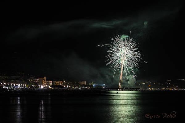Photograph - Fireworks Ceriale 2013 3672 by Enrico Pelos