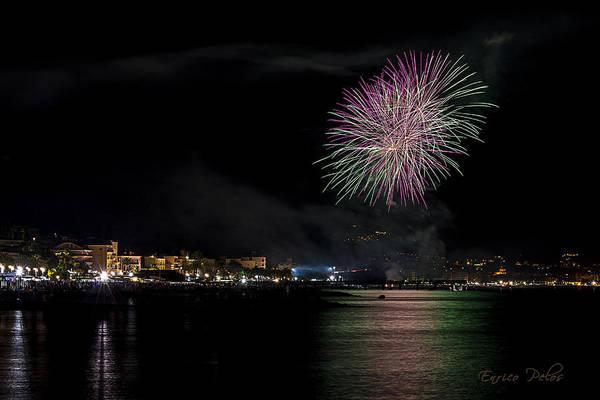 Photograph - Fireworks Ceriale 2013 3674 by Enrico Pelos