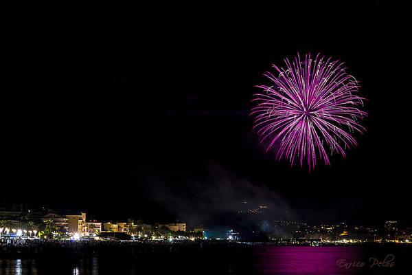 Photograph - Fireworks Ceriale 2013 3679 by Enrico Pelos