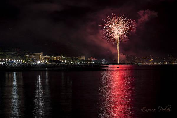 Photograph - Fireworks Ceriale 2013 3691 by Enrico Pelos