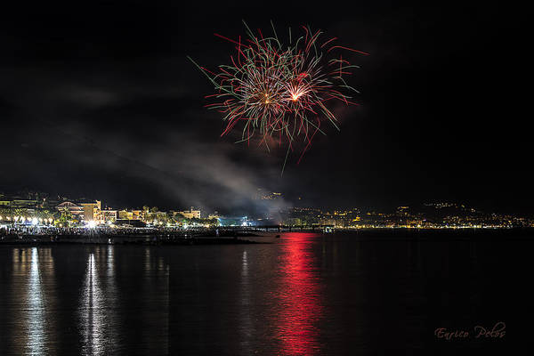 Photograph - Fireworks Ceriale 2013 3693 by Enrico Pelos
