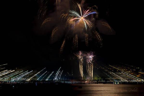 Photograph - Fireworks Ceriale 2013 3695 by Enrico Pelos