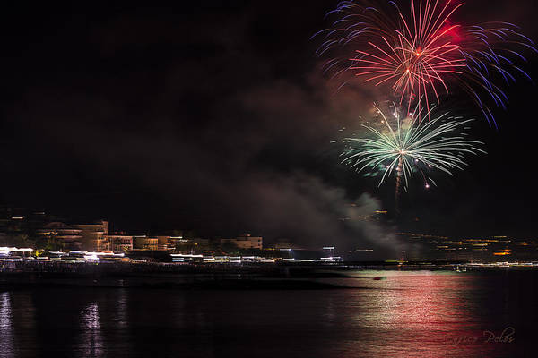 Photograph - Fireworks Ceriale 2013 3702 by Enrico Pelos