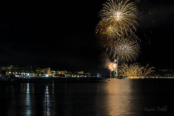 Photograph - Fireworks Ceriale 2013 3718 by Enrico Pelos