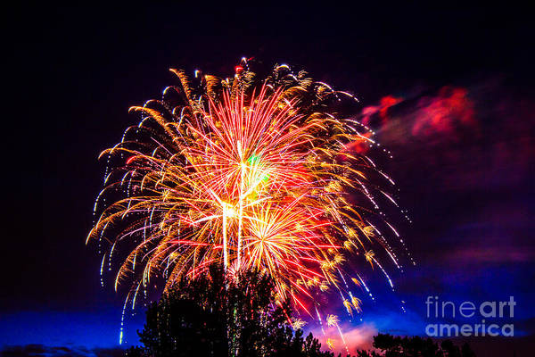 Photograph - Fireworks Eugene Oregon by Michael Cross