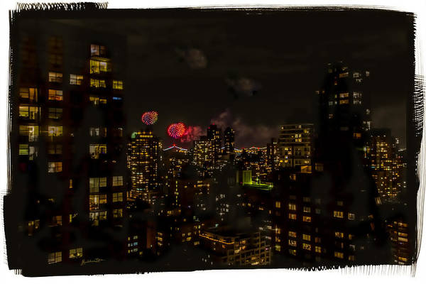 Wall Art - Photograph - Fireworks From My Window 1 - Manhattan by Madeline Ellis