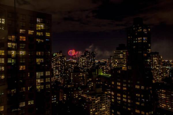 Wall Art - Photograph - Fireworks From My Window 2 - Manhattan by Madeline Ellis