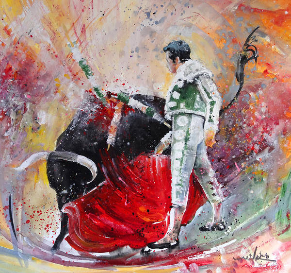 Painting - Fireworks In The Bullring by Miki De Goodaboom