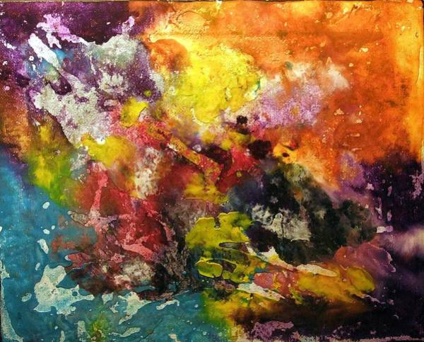 Deep Space Mixed Media - Fireworks by Nicole Henne