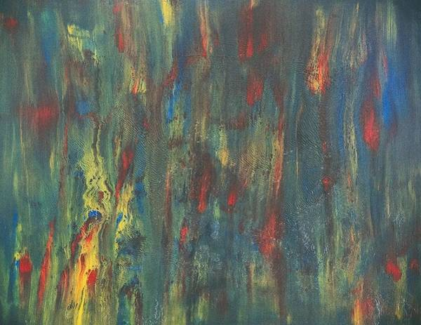 Destructive Painting - Fireworks by Norge Reichenbach