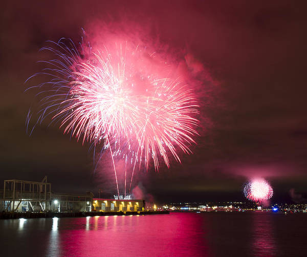 Photograph - Fireworks On San Diego Bay by Nathan Rupert