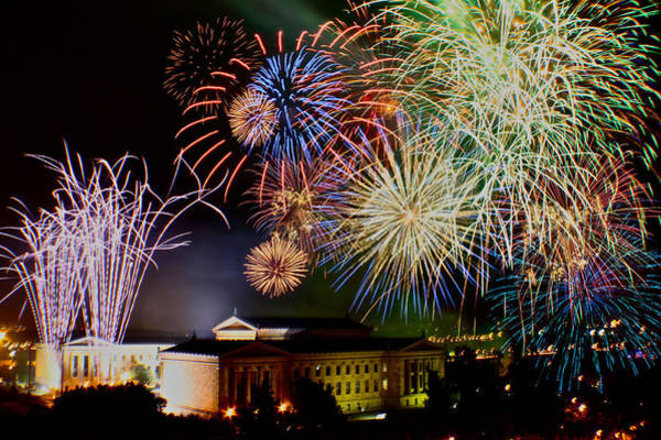 Photograph - Fireworks Over The Museum by Alice Gipson