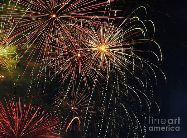 Fireworks Show Wall Art - Photograph - Fireworks - Royal Australian Navy Centenary 2 by Kaye Menner