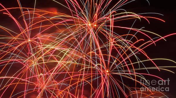 Fireworks Show Wall Art - Photograph - Fireworks - Royal Australian Navy Centenary 3 by Kaye Menner