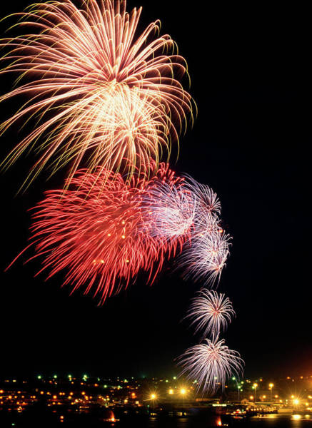 Wall Art - Photograph - Fireworks by Steve Allen/science Photo Library