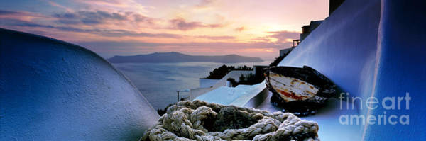 Roof Top Photograph - Santorini Sunset by Rod McLean