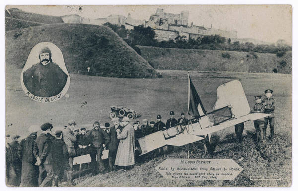 Bleriot Photograph - First Air Crossing Of The  English by Mary Evans Picture Library