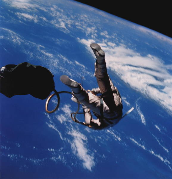 Iv Wall Art - Photograph - First American Space Walk by Nasa/science Photo Library