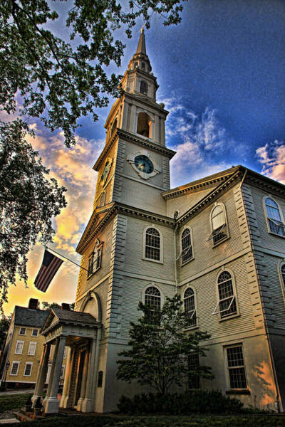 Protestant Photograph - First Baptist Meeting House by Stephen Stookey