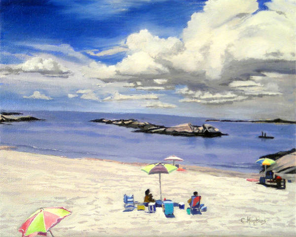Wall Art - Painting - First Beach Newport Rhode Island by Christine Hopkins