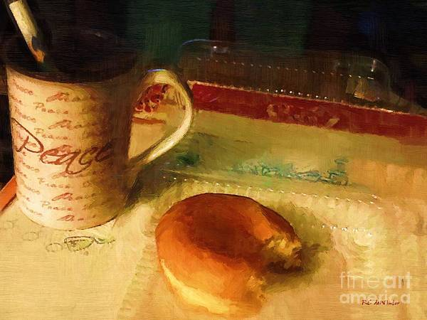Doughnut Painting - First Bite by RC DeWinter