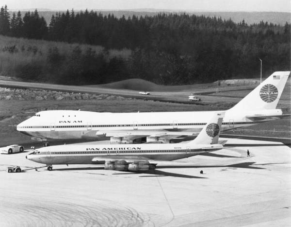 Wall Art - Photograph - First Boeing 747 by Underwood Archives