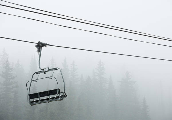 Photograph - First Chair In The Storm by Adam Pender