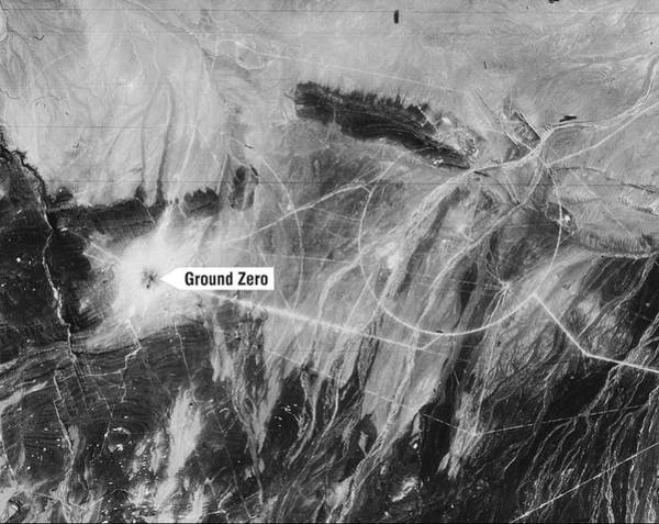 Reconnaissance Photograph - First Chinese Nuclear Test by National Reconnaissance Office
