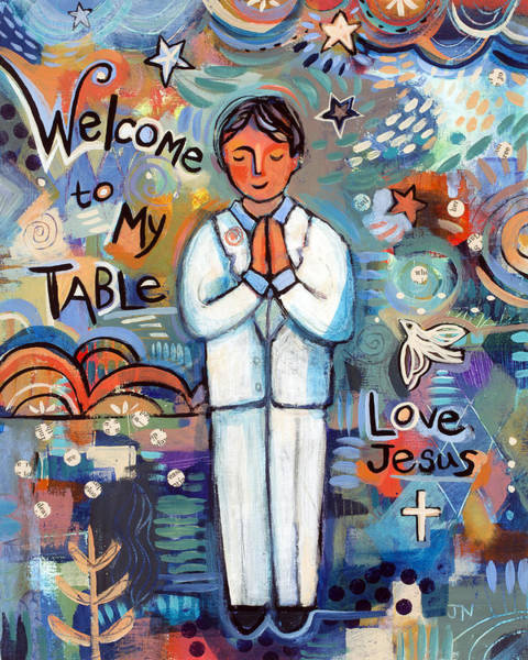 My Son Painting - First Communion Boy by Jen Norton