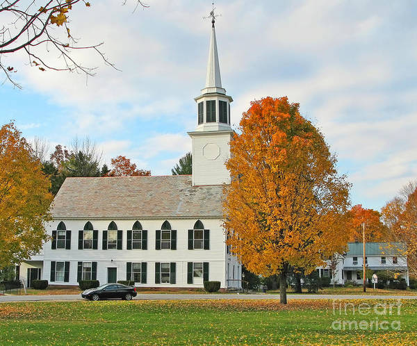 Wall Art - Photograph - First Congregational Church And Meetinghouse Townscend Vt  0153 by Jack Schultz