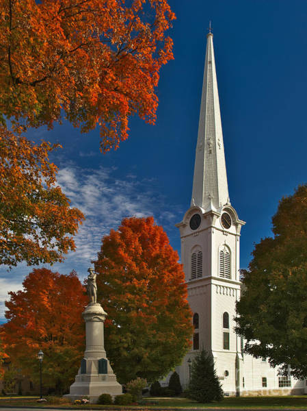 Photograph - First Congregational Church Of Manchester by Charles Kozierok