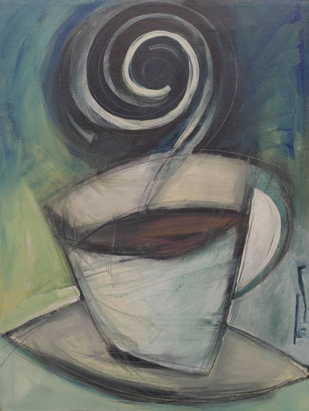 Painting - First Cup After Sixty by Tim Nyberg